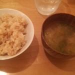 ココカラ cafe+dish - 玄米ご飯とみそ汁