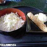 室蘭製麺所 - ひやひや+天ぷら