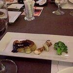グリル アンドウ - コース、茄子味噌、松茸、ブロッコリー