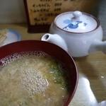 ちく千 - 蕎麦湯を足しますと卵のお吸い物になります。