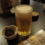 めだか - 生ビール 9月は90円でした