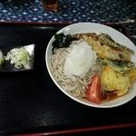 かわせみ - 冷しぶっかけ天麩羅蕎麦700円大盛り 200円