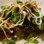 あそう - 尾道細麺のカリカリ焼き(ねぎけけ、揚げイカ)にマヨネーズ