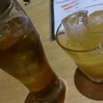 21434258 - ウーロン茶とマンゴーにごり梅酒?