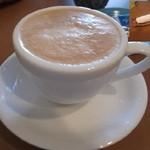 キルトカフェ - カフェラテ。濃厚~うっまい(*^^)v
