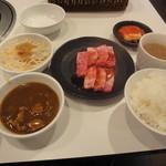 じゅうじゅうカルビ - 料理写真:上カルビランチ980円