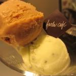 FURLA CAFE - キャラメルナッツとキウイのジェラートアップ