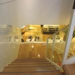 FURLA CAFE - この階段の下にカフェが有ります