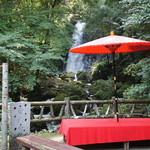 糸舞季 - すぐ目の前に滝があり、とてもいい景色です。