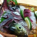 お食事処 慶 - 刺身1人前(親父の釣った魚定食)