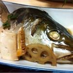 お食事処 慶 - カマ(親父の釣った魚定食)