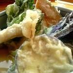 レストラン 最高地点 - 野菜天がドッサリ
