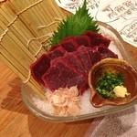 函館市場 海厨房 - ミンク鯨刺し