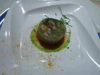 ル・ジャルダン・デ・サヴール - アミューズ 茄子と蛤のカレー風味