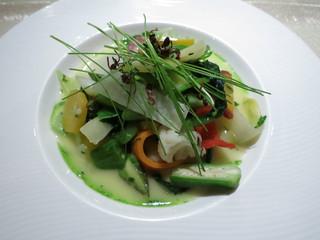 ル・ジャルダン・デ・サヴール - オードブル ミッシェルブラスのスペシャリテ 30種類の温野菜のガルグイユ