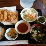 ニース カフェレスト - 料理写真:とんかつ定食 980円(2013.9.21)