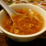 火焔山餃子房 - トマトスープ