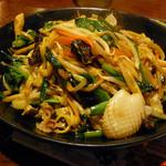 火焔山餃子房 - 伊府麺の焼きそば