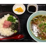 万徳 - ★ネギトロ丼+台湾ら~めん定食