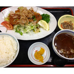 万徳 - ★和風みぞれ豚カツ定食(貝汁に変更)