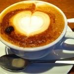 es - ランチセットのカフェラテ