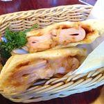 珈琲館 くすの樹 - 【13年9月】ミッシリとハムがつまった「ハムとチーズのホットサンド」