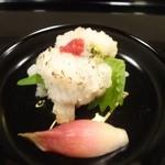 日本料理 喜多丘 - 完璧に骨切りされた質のよいハモ あぶっており、香が素晴らしい 神