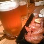 21453837 - 手羽先と生ビール
