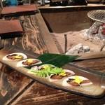 囲炉裏料理と日本酒スローフード 方舟 - へしこ旨し♪(´ε` )