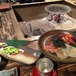 囲炉裏料理と日本酒スローフード 方舟 - 炭焼き盛合せ