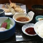 天ぷら 筧 - 【ランチ】天ぷら刺身ランチ