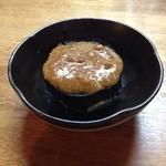 どんぱん - 丸茄子の田楽、店主ご自慢の味噌が味の肝。