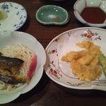 21457502 - 鱧の天ぷら、鮎素麺。これまた最高!