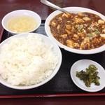 21458133 - 四川風マーラー豆腐定食大盛り(700円)