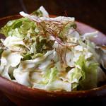 山本のハンバーグ - 「チョレギサラダ」自家製のチョレギドレッシングで食べるシャキシャキキャベツのサラダです。