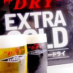 鳥一番 - 【エクストラコールド】 スーパードライ&ドライブラック!☆380円☆焼き鳥だけじゃない!お酒を飲むお客様にも満足して頂くために、こんなんもあります!