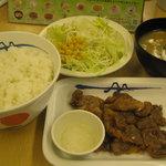 松屋 - 「カルビ焼肉定食」です。