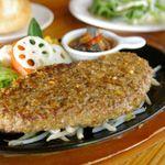 パパバーグママスイーツ - 料理写真:贅沢に常陸牛を100%使ったハンバーグ♪とっても柔らかいです。ランチ