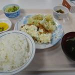 寒地土木研究所食堂 - A定食(チキン南蛮)