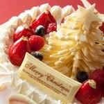 ティーラウンジ ファウンテン - ホテル日航大阪特製クリスマスケーキ
