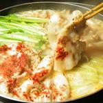 くりのすけ - 旨い!もち豚のお鍋!白鍋は白味噌&白ゴマのあっさりスープ。
