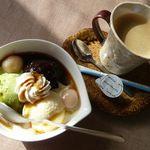 カゼウタ - 和風コーヒーゼリーセット(\500)