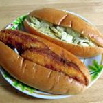 わくわく広場 - ぽてちパン140円とダブルコロッケパン150円