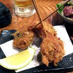 伊達酒場 強太朗 - 秋刀魚の梅しそ揚げ
