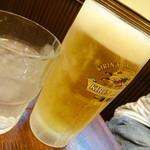 ちょもらんま - 冷え冷えのビール