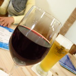 La さかな亭 - 樽生ワイン カベール(グラス)380円