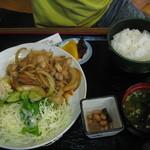 青葉園 - 料理写真:豚の生姜焼き定食