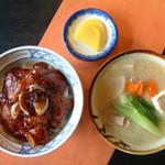 かかし - かかしオリジナルとんとんセット(豚丼と豚汁のセット) 1200円
