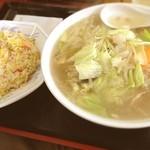 万龍 - タンメンと半チャーハン(๑´ڡ`๑)