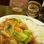 梅蘭 - 2013, Aug 豚バラかけご飯 夜値段で950円ご飯少なめバージョン
